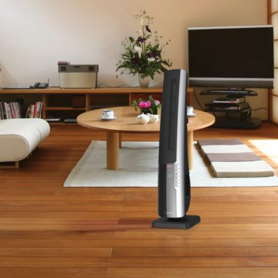 Lasko, Ultra Digital Ceramic Tower Heater with Remote Control, Model CT32960, In modern living room