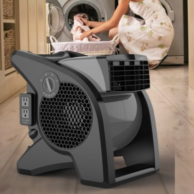 lasko Pro-Performance Pivoting Blower Utility Fan model U15610 laundry room