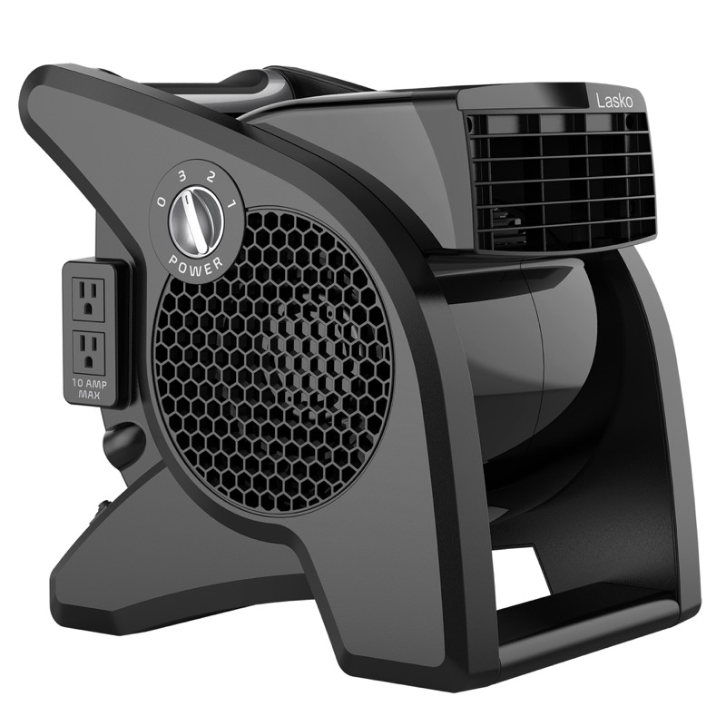lasko Pro-Performance Pivoting Blower Utility Fan model U15617 side