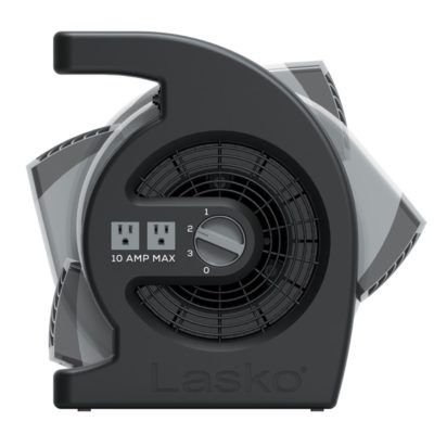 side pivot of lasko Max Performance Pivoting Utility Blower Fan model U15720