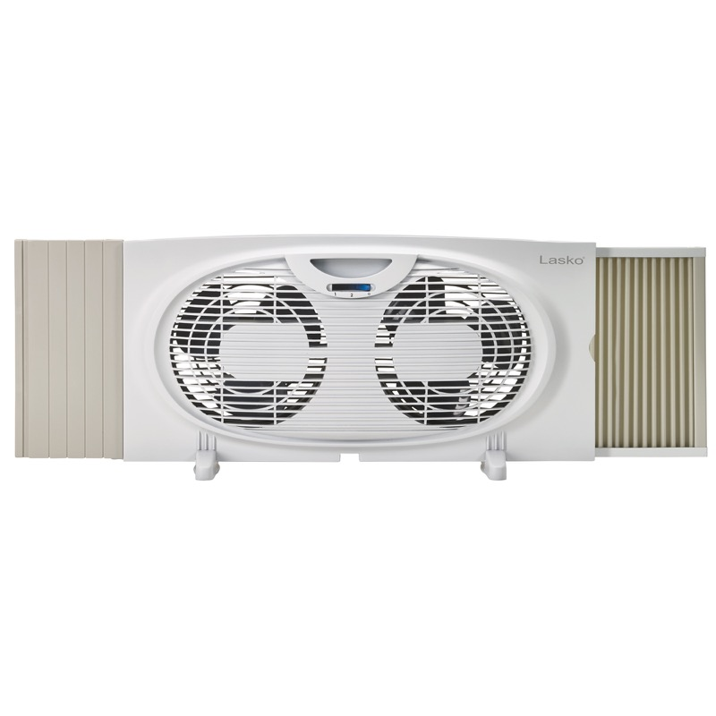 lasko Twin Window Fan model W07350 with feet