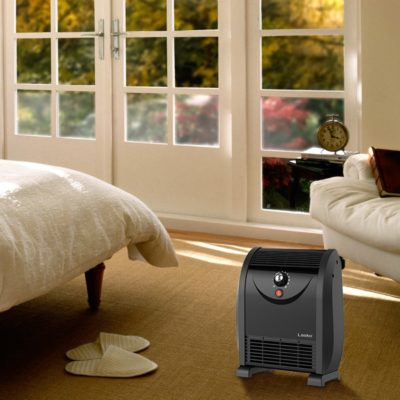 Lasko Automatic Airflow Heater model WC14812 in bedroom