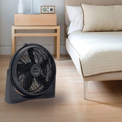lasko 20″ Cyclone® 4-Speed Fan with Remote Control model A20562 in bedroom