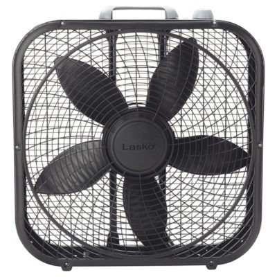 lasko 20″ Cool Colors® Box Fan - Black model B20301 front