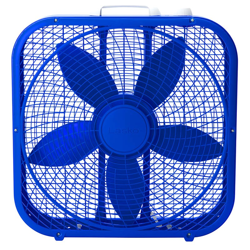 lasko Cool Colors 20″ Box Fan - Royal Blue model b20306