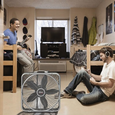 "lasko 20"" Power Plus Box Fan model b20540 in dormroom"