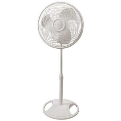 lasko 16″ Oscillating Stand Fan - White model s16200 front