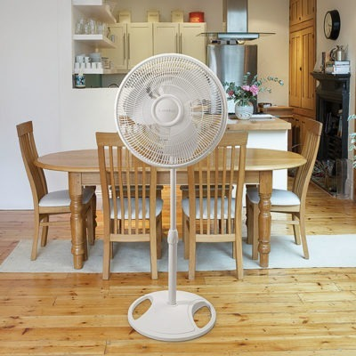 lasko 16″ Oscillating Stand Fan - White model s16200 in dining room