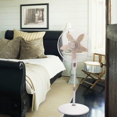 Lasko 18″ Remote Control Pedestal Fan model S18300 in bedroom