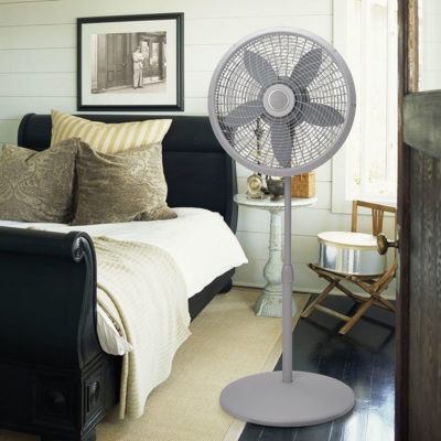 lasko 18″ Adjustable Cyclone® Pedestal Fan model S18900 in bedroom