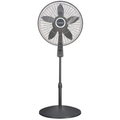 Lasko 18″ Pedestal Fan with Remote Oscillation and Thermostat model s18965