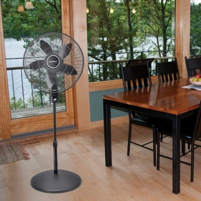 "lasko 20"" Oscillating Remote Control Pedestal Fan model S20610 in dining room"