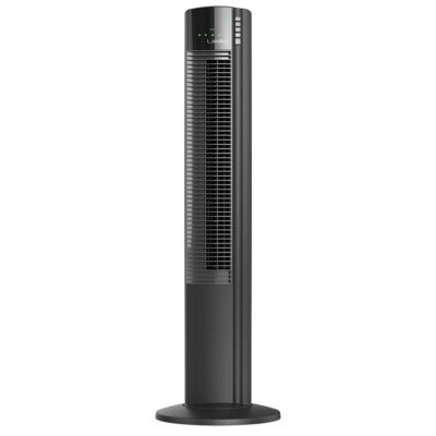Side view of Lasko 5-Speed Wind Curve® Tower Fan with Ionizer model T42915