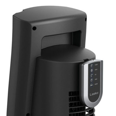 handle of Lasko 5-Speed Wind Curve® Tower Fan with Ionizer model T42915