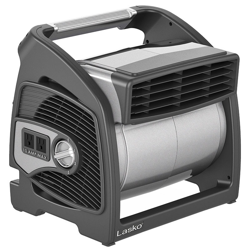 Lasko Max performance pivoting utility blower fan model U15701 front