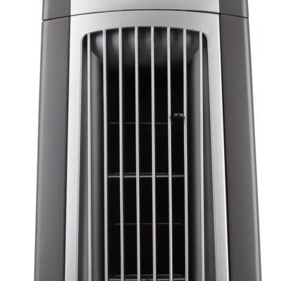 Lasko Oscillating High Velocity Fan with Remote Control Remote Model U35100 front close up
