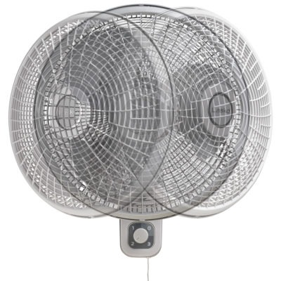 Front view Lasko Oscillating Wallmount Fan with 3 speeds Pivoting Model M16900