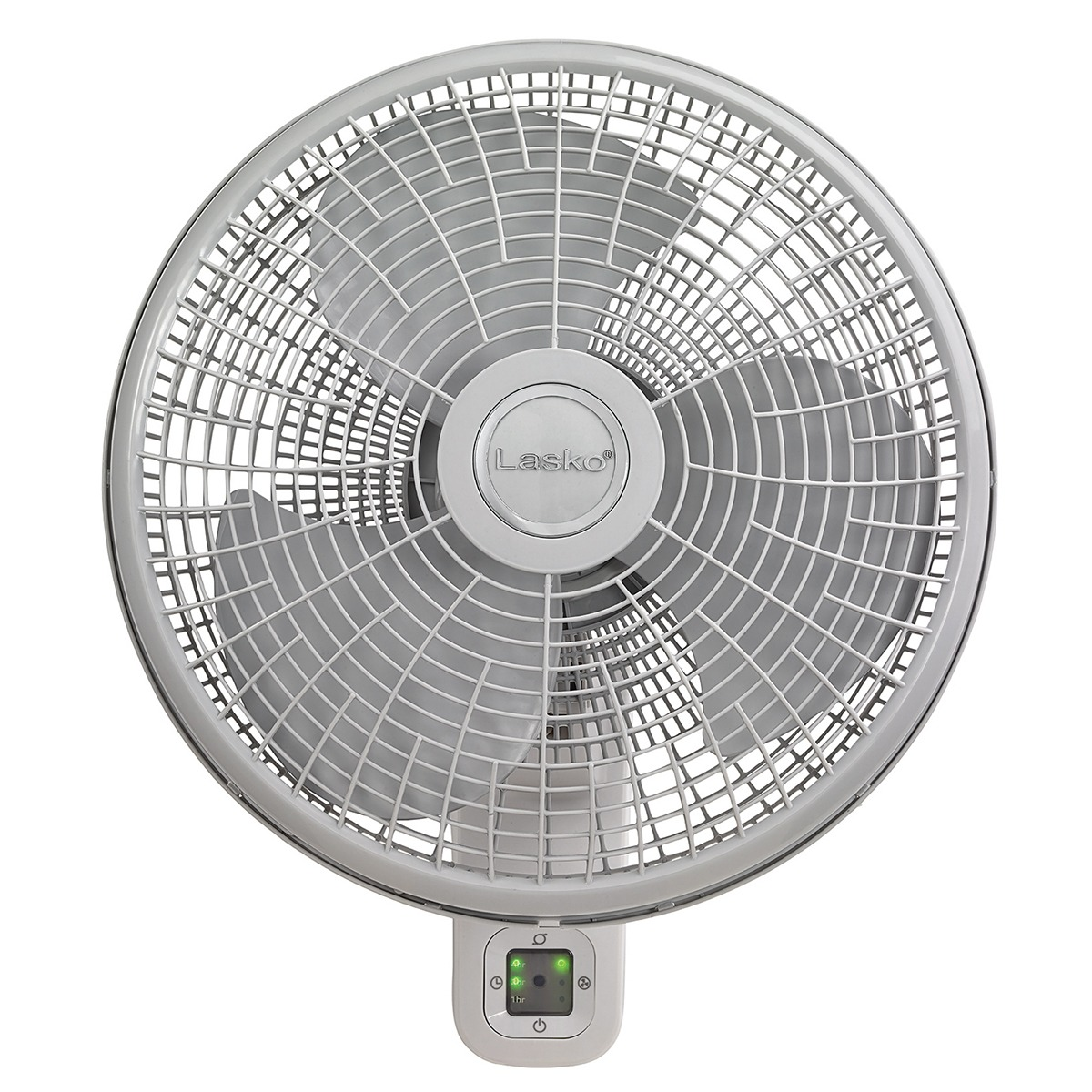Front view of Lasko Wallmount Fan