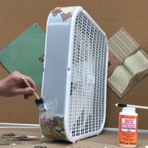 Decorate your Lasko box fan with decoupage - step 1