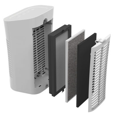 Lasko Desktop Air Purifier Rear View with Filters