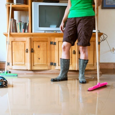 cleaning up your home after water leaks or flooding