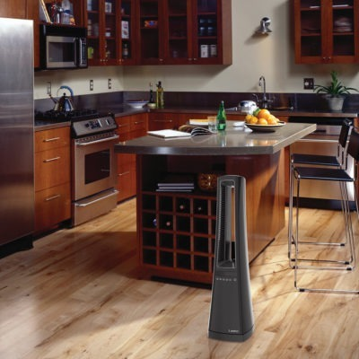 Lasko Bladeless Ceramic Heater with Remote model AW310 in kitchen