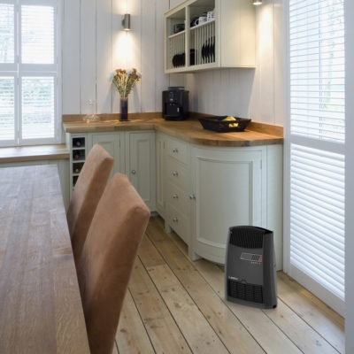 Lasko Electric Heater CC13700 in a kitchen
