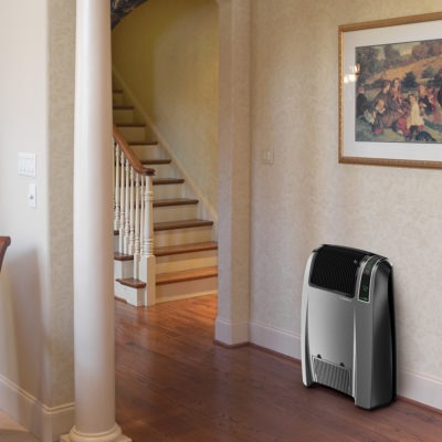 CC24846 Lasko Cyclonic Digital_Ceramic_Heater with Remote in HALLWAY