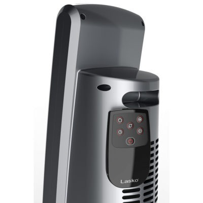 Back view of Lasko Digital Ceramic Tower Heater with Remote Control Model CT30754