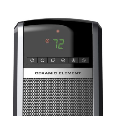 Digital Ceramic Tower Heater with Remote Control CT30754 controls