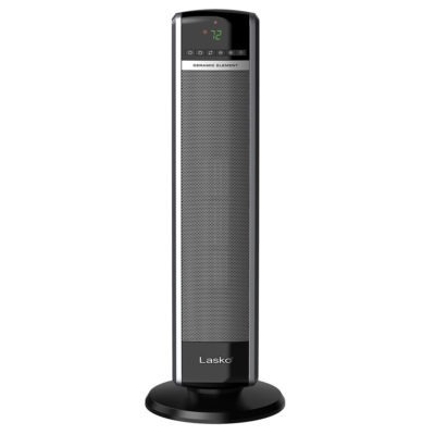Front view of Lasko Digital Ceramic Tower Heater with Remote Control Model CT30754
