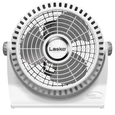 front view of Lasko white Breeze Machine fan, model 508