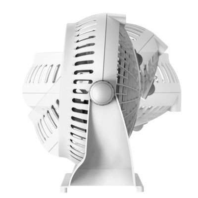 pivoting motion of Lasko white Breeze Machine fan, model 508