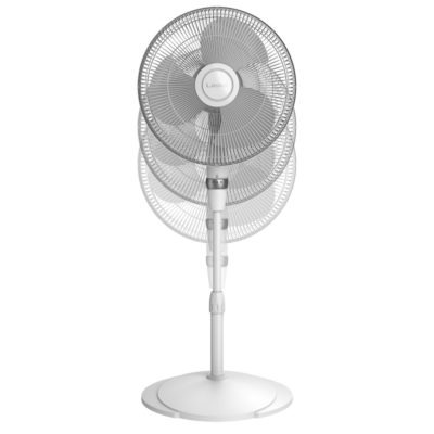 height adjustment diagram Lasko Performance Pedestal Fan, model S16225
