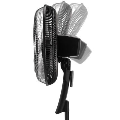 side view of tilt-back head on Lasko Pedestal Fan with Remote Oscillation and Thermostat