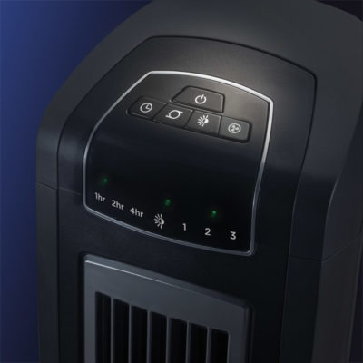 Nighttime Setting on Lasko High-Reaching Tower Fan, model T42552