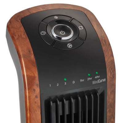 controls for Lasko Wind Curve® Oscillating Tower Fan with Remote model T42964