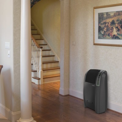 Lasko Cyclonic Digital Ceramic Heater, Model 5868, In hallway