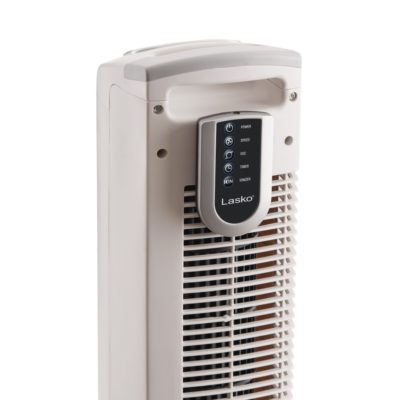 Back of Lasko Tower Fan with Remote Control Model T36214