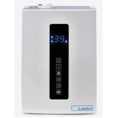 Front view of Lasko Quiet Ultrasonic Digital Warm and Cool Mist Humidifier Model UH300