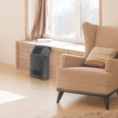 Lasko Cyclonic Digital Ceramic Heater with Remote Model CC24910 in living room