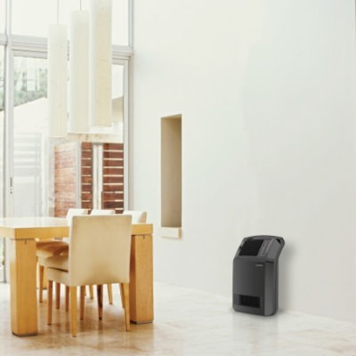 Lasko Cyclonic Digital Ceramic Heater with Remote Model CC24910 in dining room
