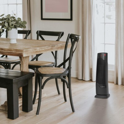 Lasko Digital Ceramic Tower Heater with Remote Control Model CT22835 in Dining Room