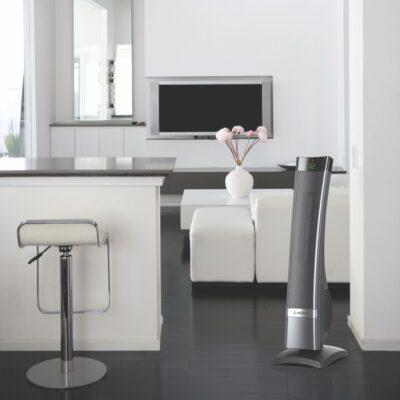 Lasko Ultra Ceramic Heater with Remote Control model CT30711 in modern living area
