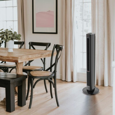 Dining Room with Lasko All Season Tower Fan and Space Heater model FH610