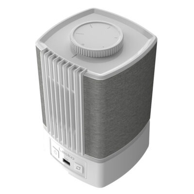 top of Lasko SB101 Slumber Breeze 2-in-1 Fan and White Noise Machine, white