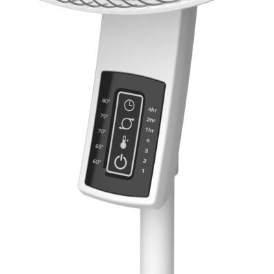 controls on Lasko Pedestal Fan with Remote Oscillation and Thermostat, model S16614