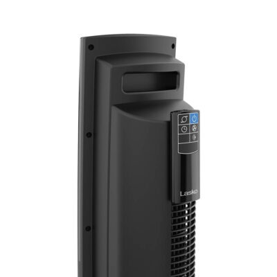 back of Lasko Wind Tower® Fan with Nighttime Mode and Remote Control, model T36510